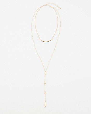Multi-Strand Lariat Necklace