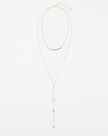 Multi-Strand Lariat Necklace