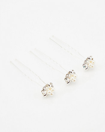 Set of Three Flower Bobby Pins