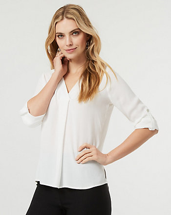 V-Neck Tunic Blouse