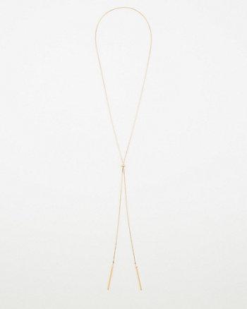 Gem Encrusted Lariat Necklace