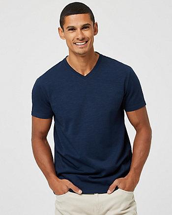 T-shirt à encolure en V en coton