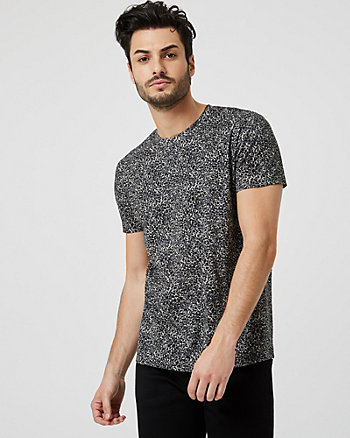Animal Print Cotton Crew Neck T-Shirt