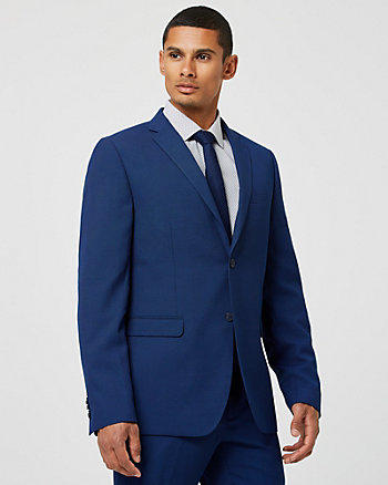 Woven Notch Collar Slim Fit Blazer