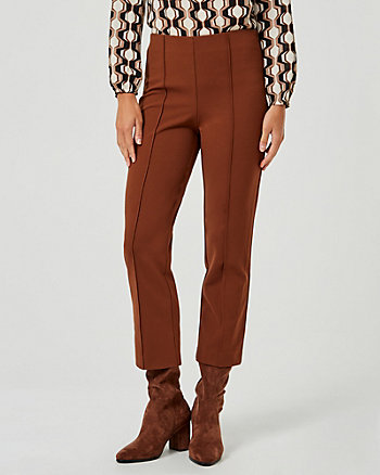 Knit Crêpe Slight Flare Leg Pant