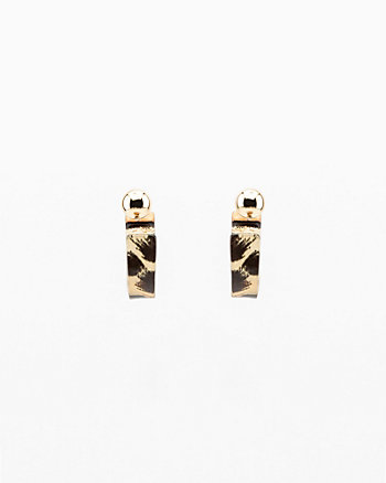 Mini Half Circle Hoop Earrings