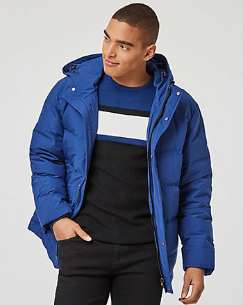 Down Filled Puffer Bomber Jacket