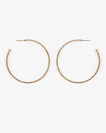 65mm Gem Hoop Earrings