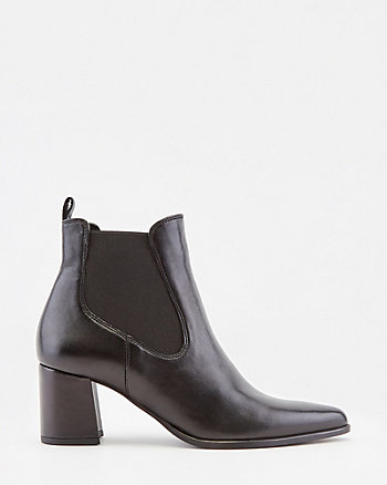 Italian-Designed Leather Pointy Toe Boot