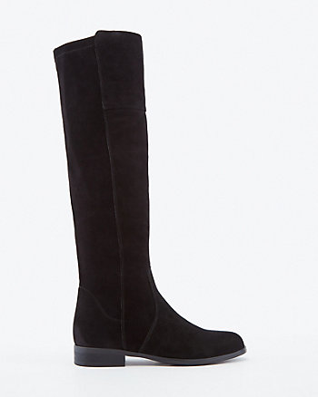 Italian Designed Suede Knee-High Boot