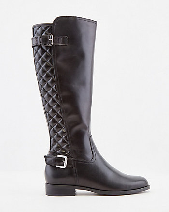 Italian-Designed Leather Knee-High Boot