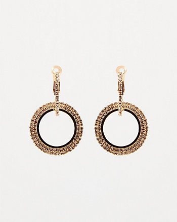 Gem Encrusted Double Hoop Earrings