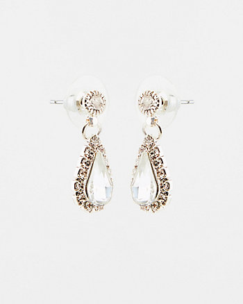 Gem Encrusted Teardrop Earrings