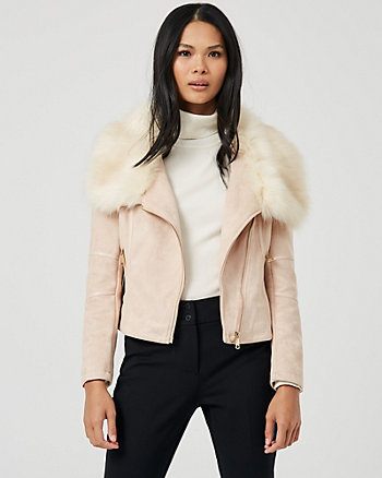 Faux Fur & Faux Suede Jacket