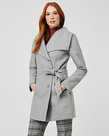 Cashmere-like Shawl Collar Coat