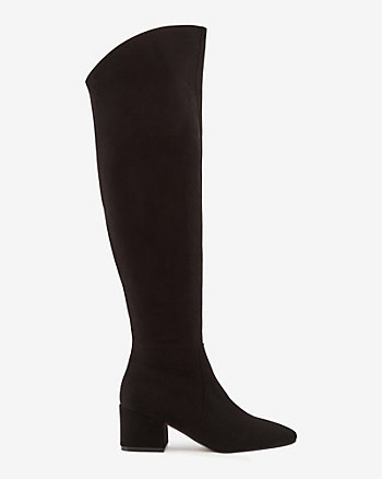 Italian-Made Suede Knee-High Boot