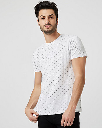 T-shirt à motif de pilules en coton