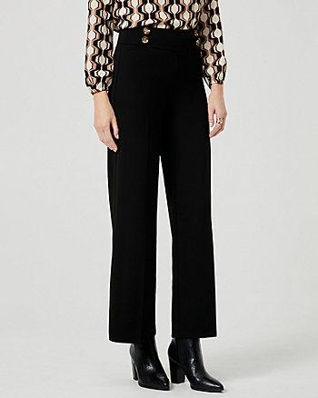 Pantalon à jambe large en crêpe tricot