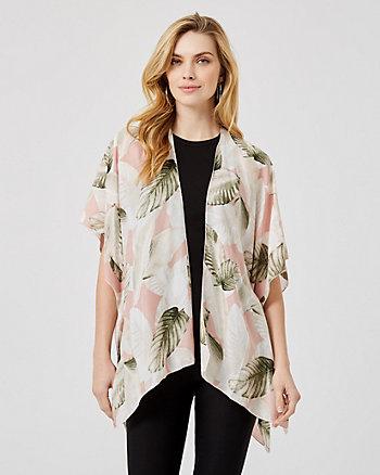 Tropical Print Viscose Kimono