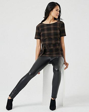 Faux Leather Skinny Legging