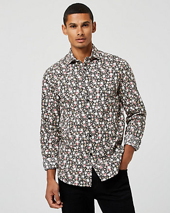 Floral Print Slim Fit Cotton Shirt