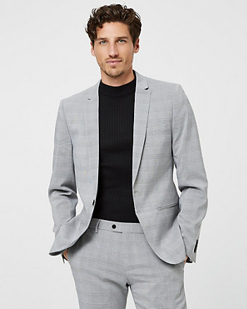 Glen Check Slim Fit Blazer