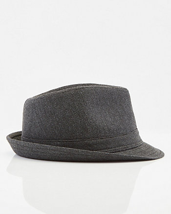 Heather Knit Fedora Hat