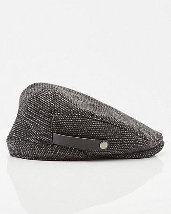 Casquette Gatsby en mélange de laine