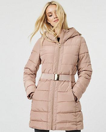 Manteau matelassé à fourrure synthétique