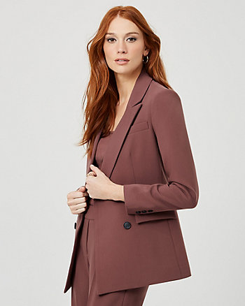 Double Weave Tailored Fit Blazer