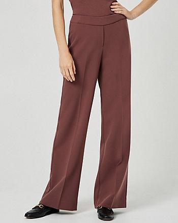 Pantalon à jambe large en armure double