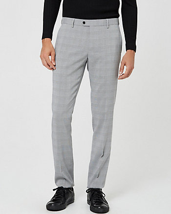 Glen Check Slim Leg Pant