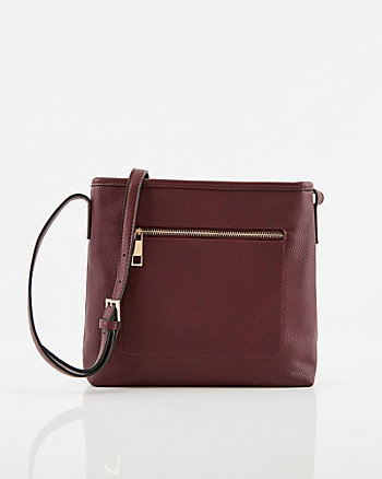 Pebbled Faux Leather Crossbody Bag