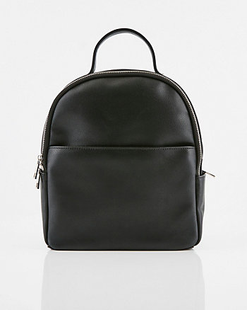 Saffiano Faux Leather Backpack