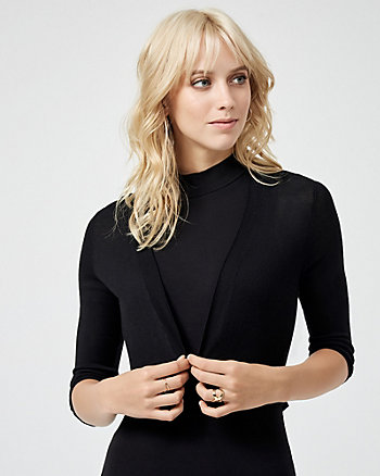 Knit Open-Front Shrug
