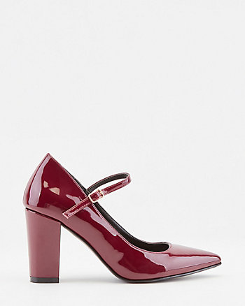 Patent Faux Leather Mary Jane Pump