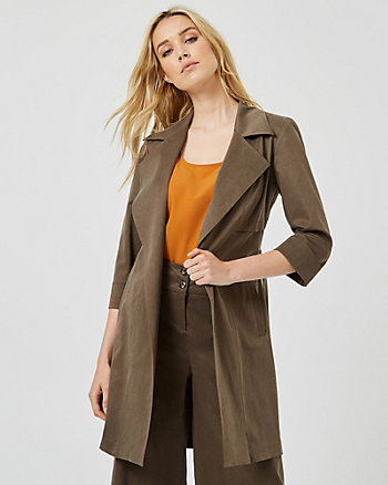 Notch Collar Wrap Blazer