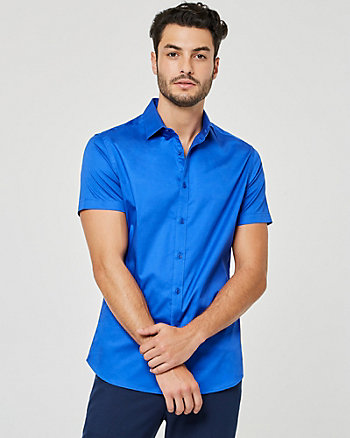 Cotton Sateen Athletic Fit Shirt