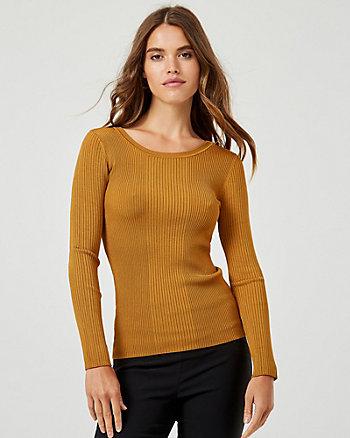 Rib Knit Crew Neck Sweater