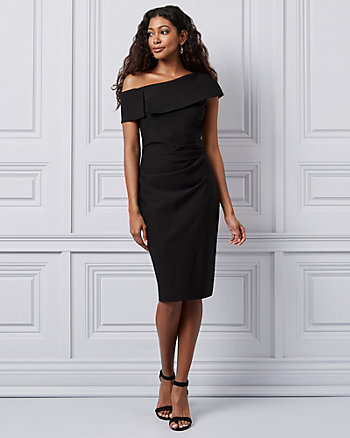 Tech Stretch One Shoulder Cocktail Dress