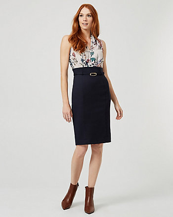 Floral Print Crêpe de Chine Dress