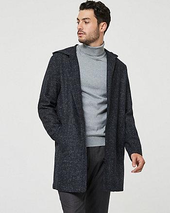 Wool Blend Hooded Parka