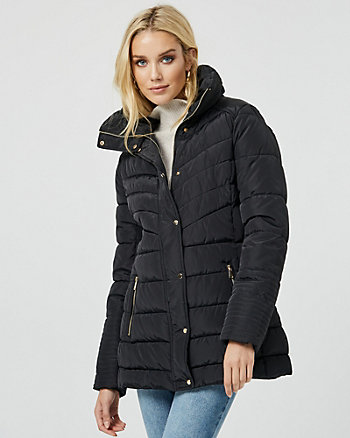 Funnel Neck Puffer Coat