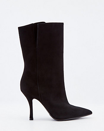 Italian-Made Suede Pointy Toe Boot