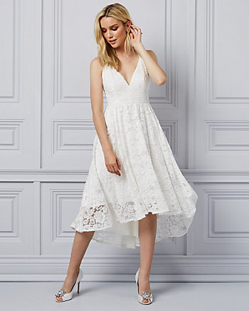 Corded Lace V-Neck Dress