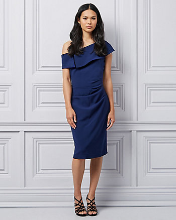 Double Weave One Shoulder Cocktail Dress