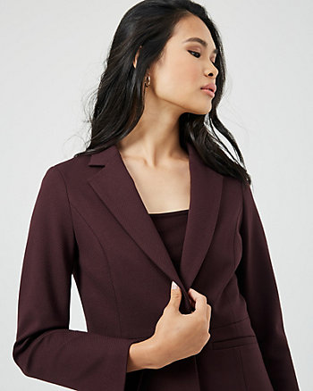 Stretch Twill Notch Collar Blazer