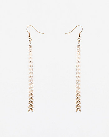 Metal Fish Tale Earrings