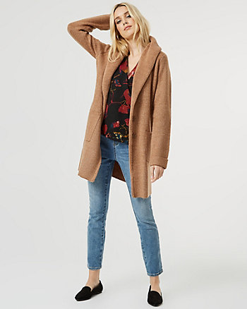 Faux Sherpa Sweater Coat
