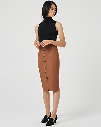 Jersey Knit Mock Neck Dress
